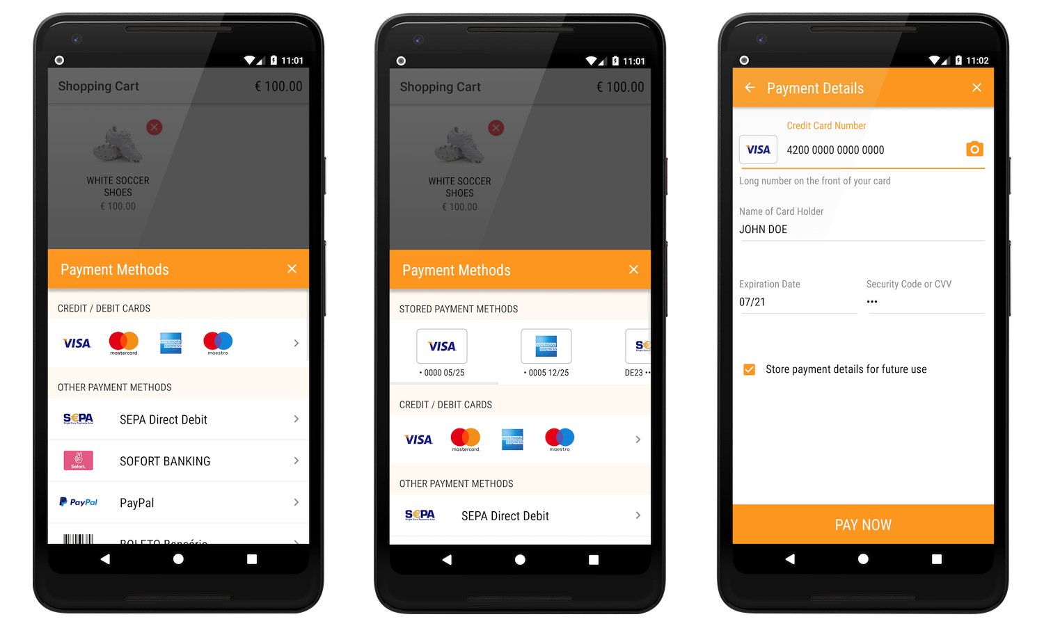 Android Prebuilt Checkout Screens